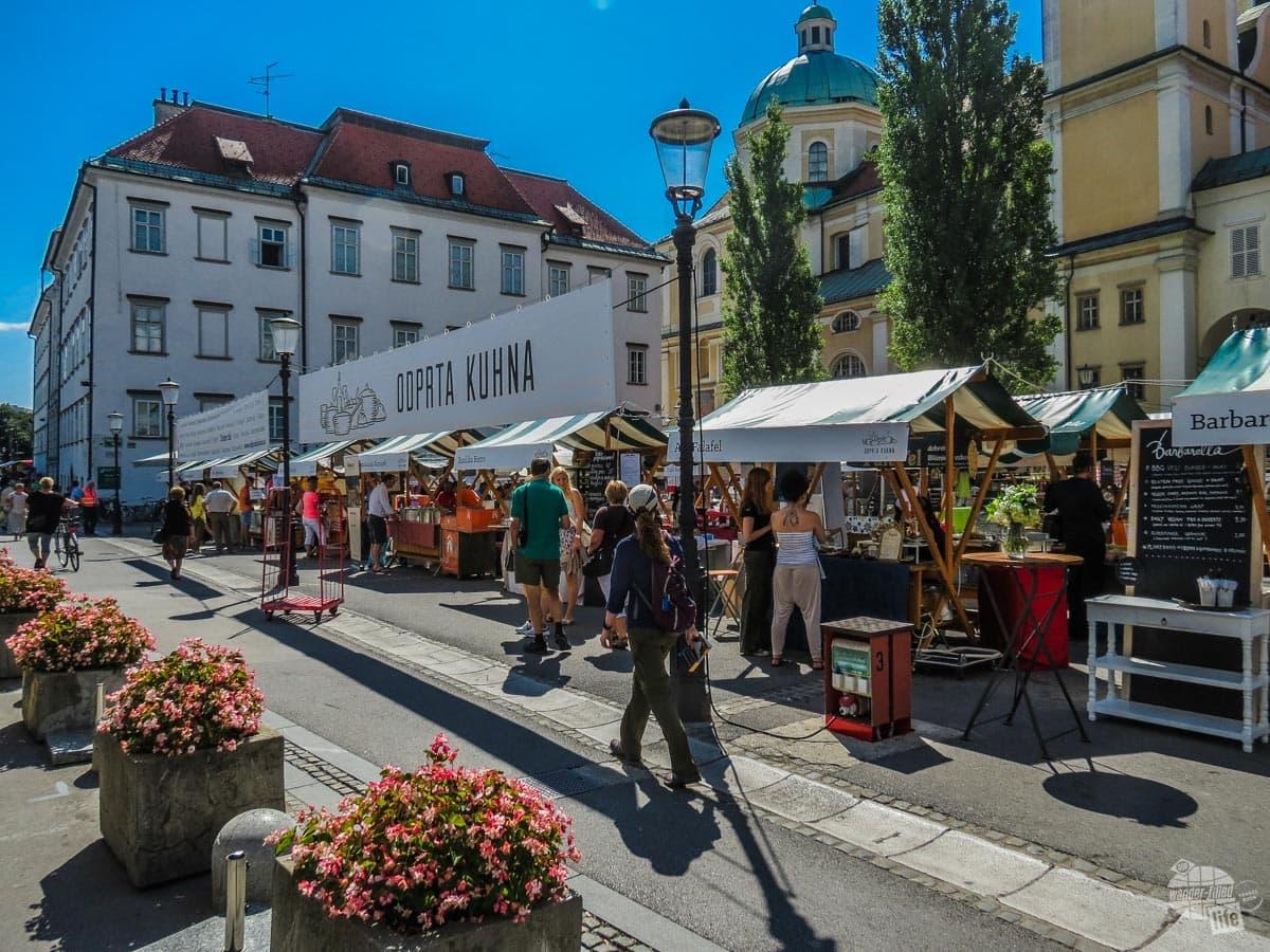 Food festival in Ljubljana, Slovenia.