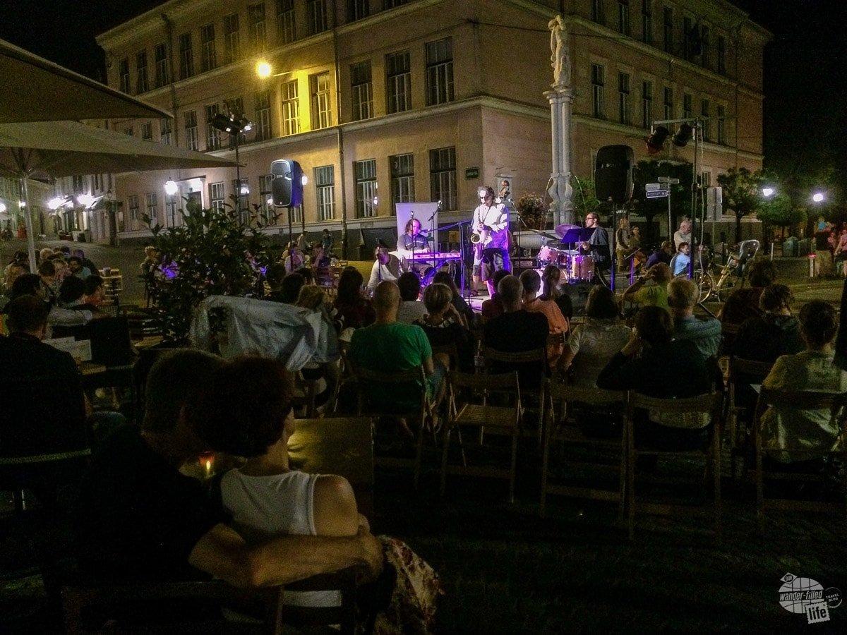 Jazz concert on the street in Ljubljana.