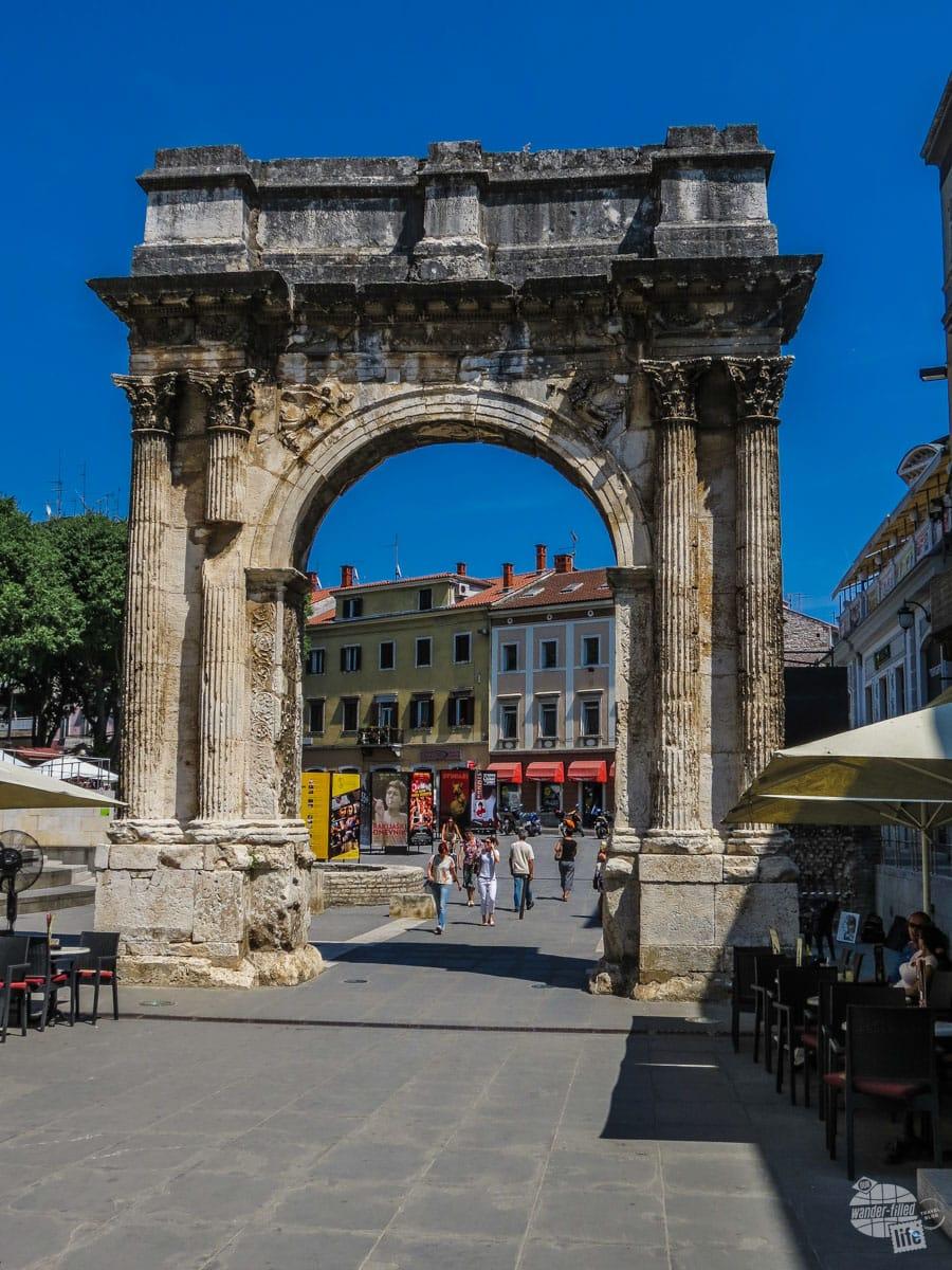 Arch of Sergii in Pula, Croatia