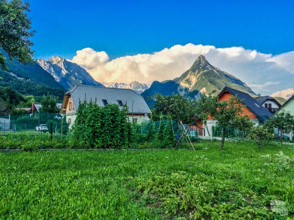 Bovec is nestled at the base of the Julian Alps.