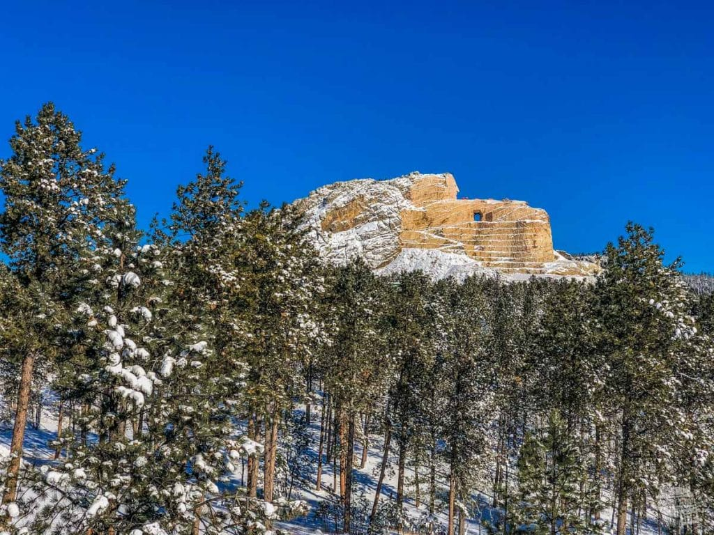 The Crazy Horse Memorial is another great thing to do when visiting Mount Rushmore.