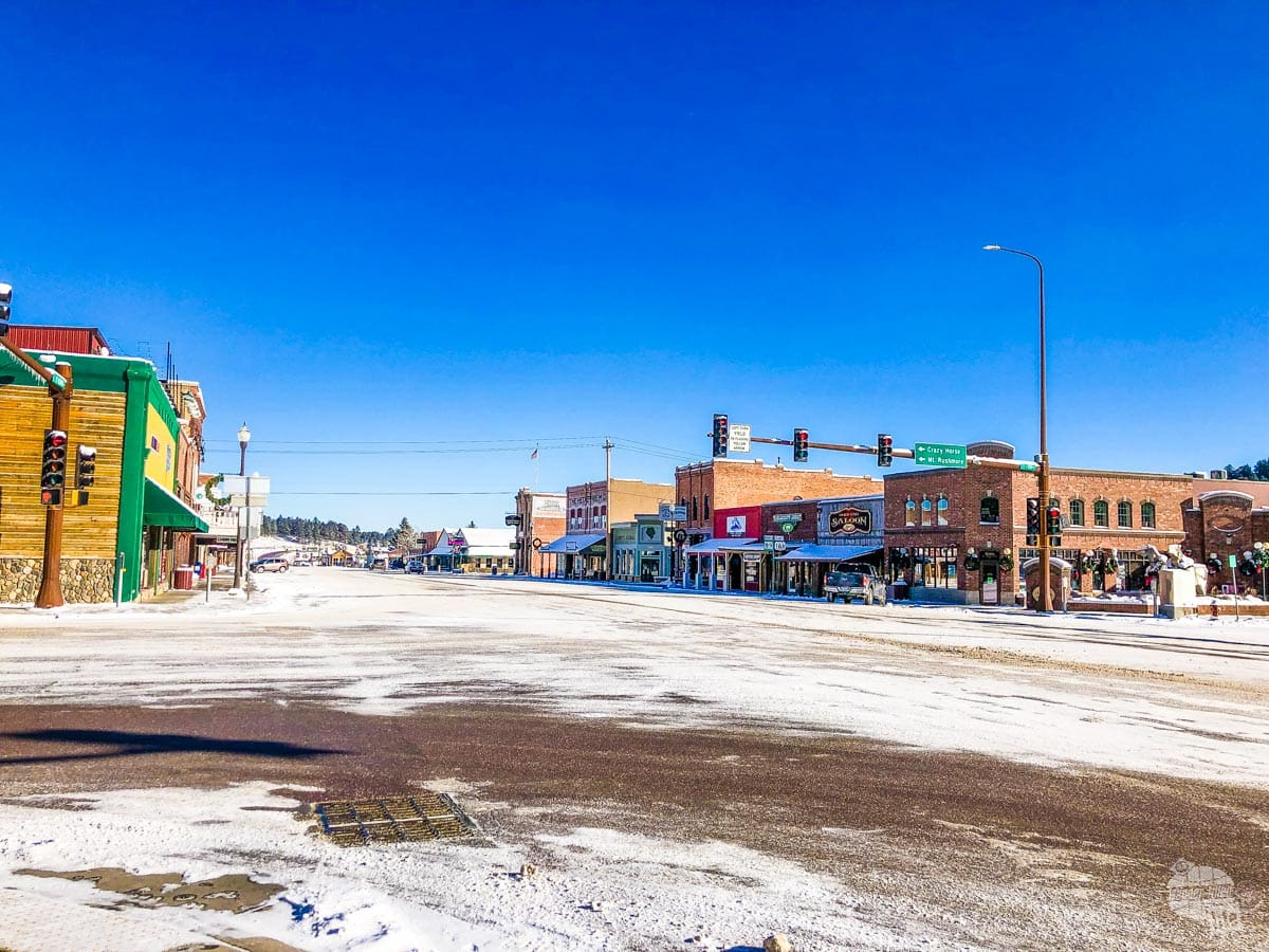 Downtown Custer on New Year's Day
