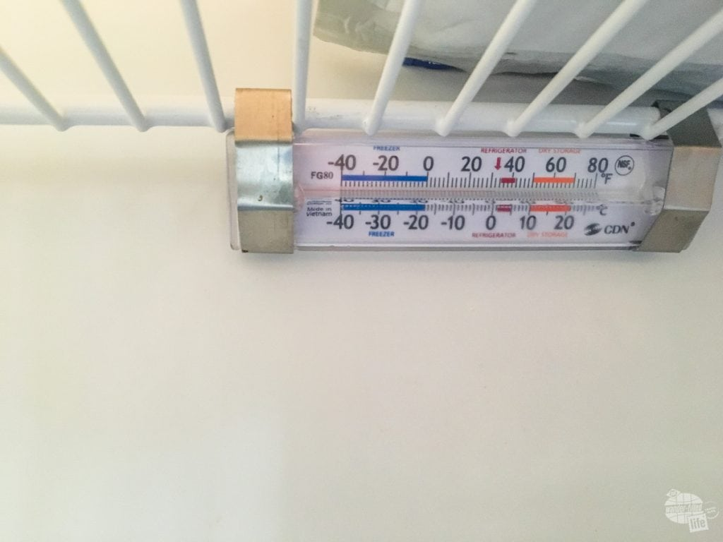 A good fridge thermometer allows you to make sure the food is still good.