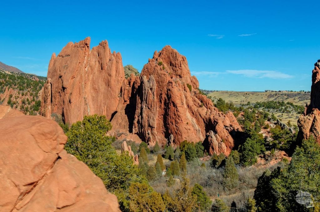 Red rock formations at Garden of the Gods in Colorado Springs