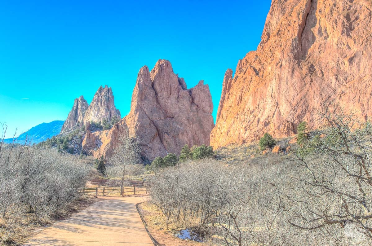 Paved trail at Garden of the Gods