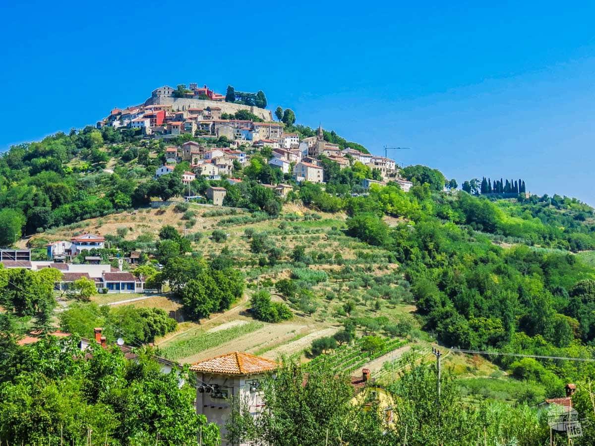 Hilltop town of Motovun, Croatia