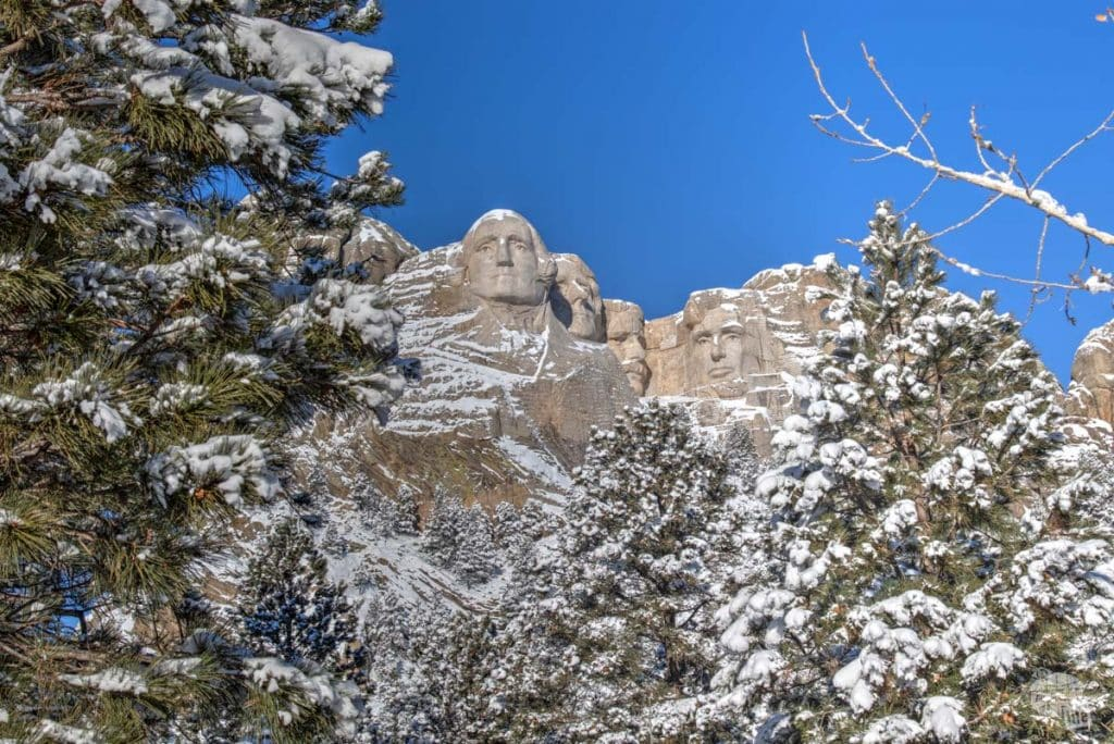 Mt. Rushmore in the winter