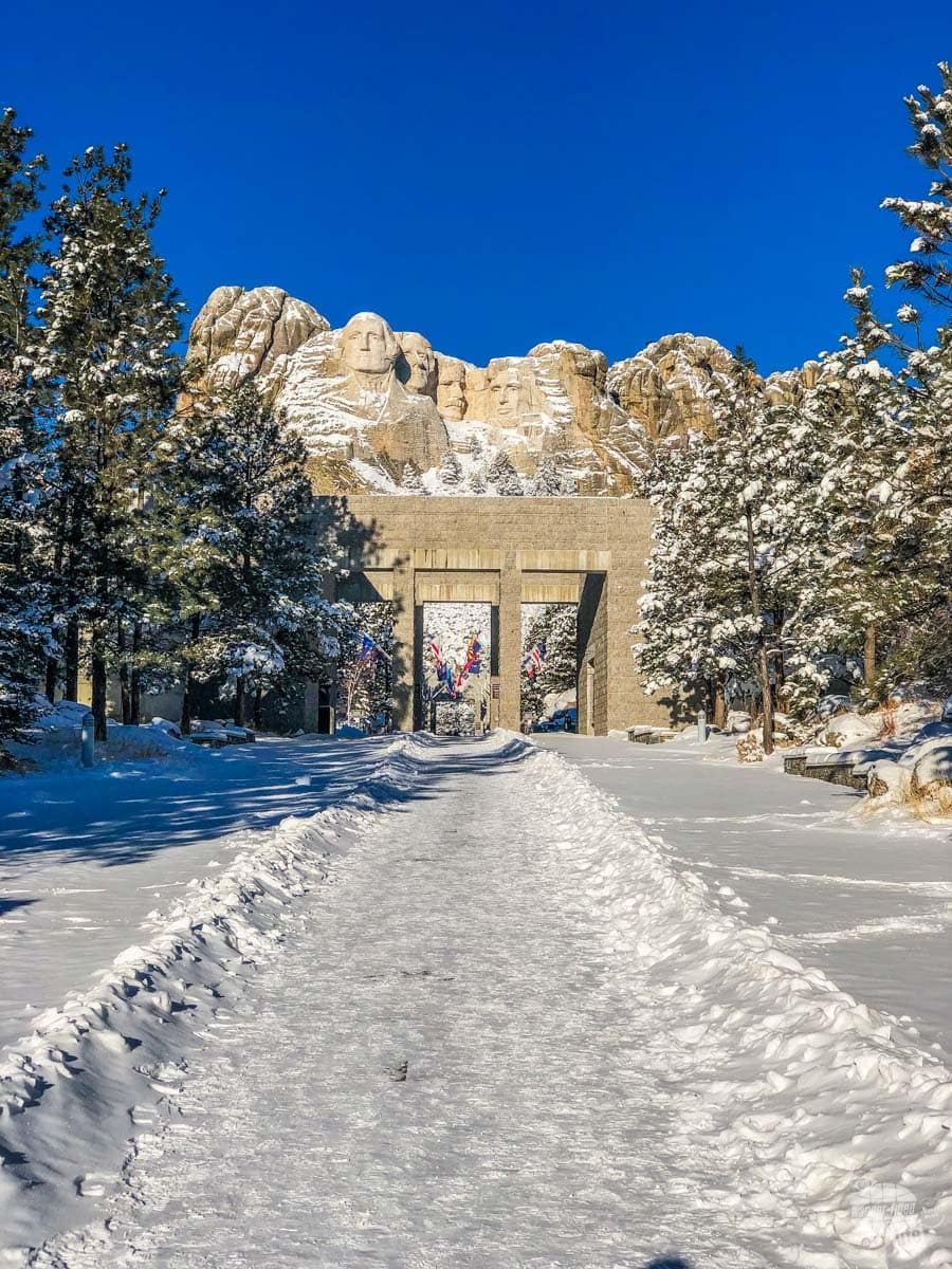 The entrance to Mt. Rushmore