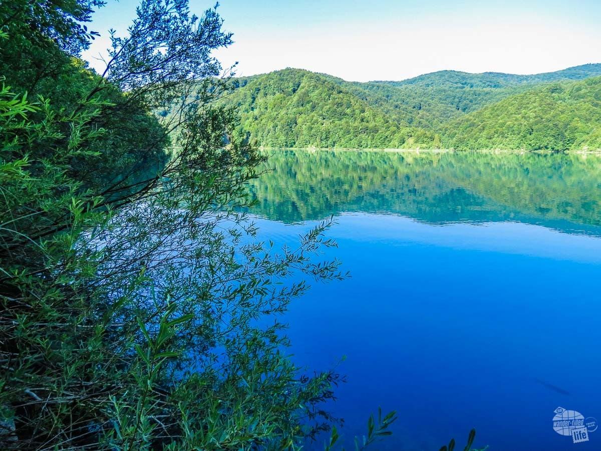 Plitvice Lake at Plitvice National Park in Croatia