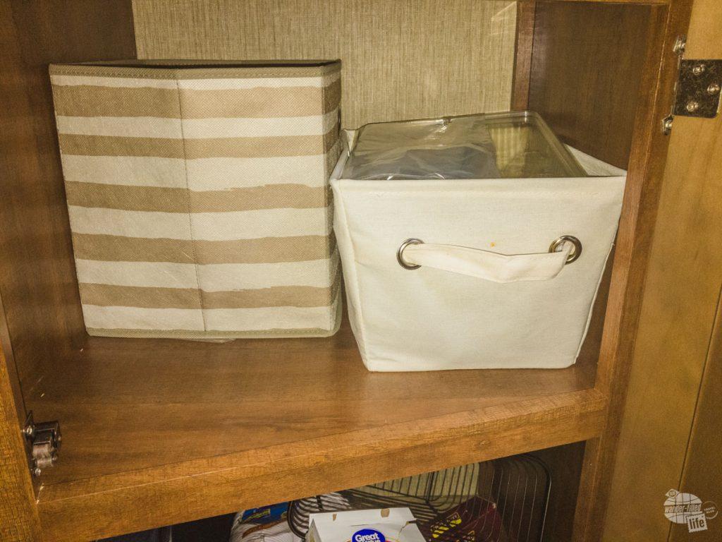Storage bins for under the counter storage