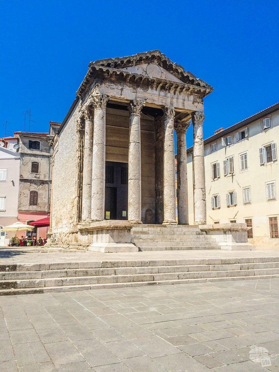 Temple of Augustus in Pula, Croatia