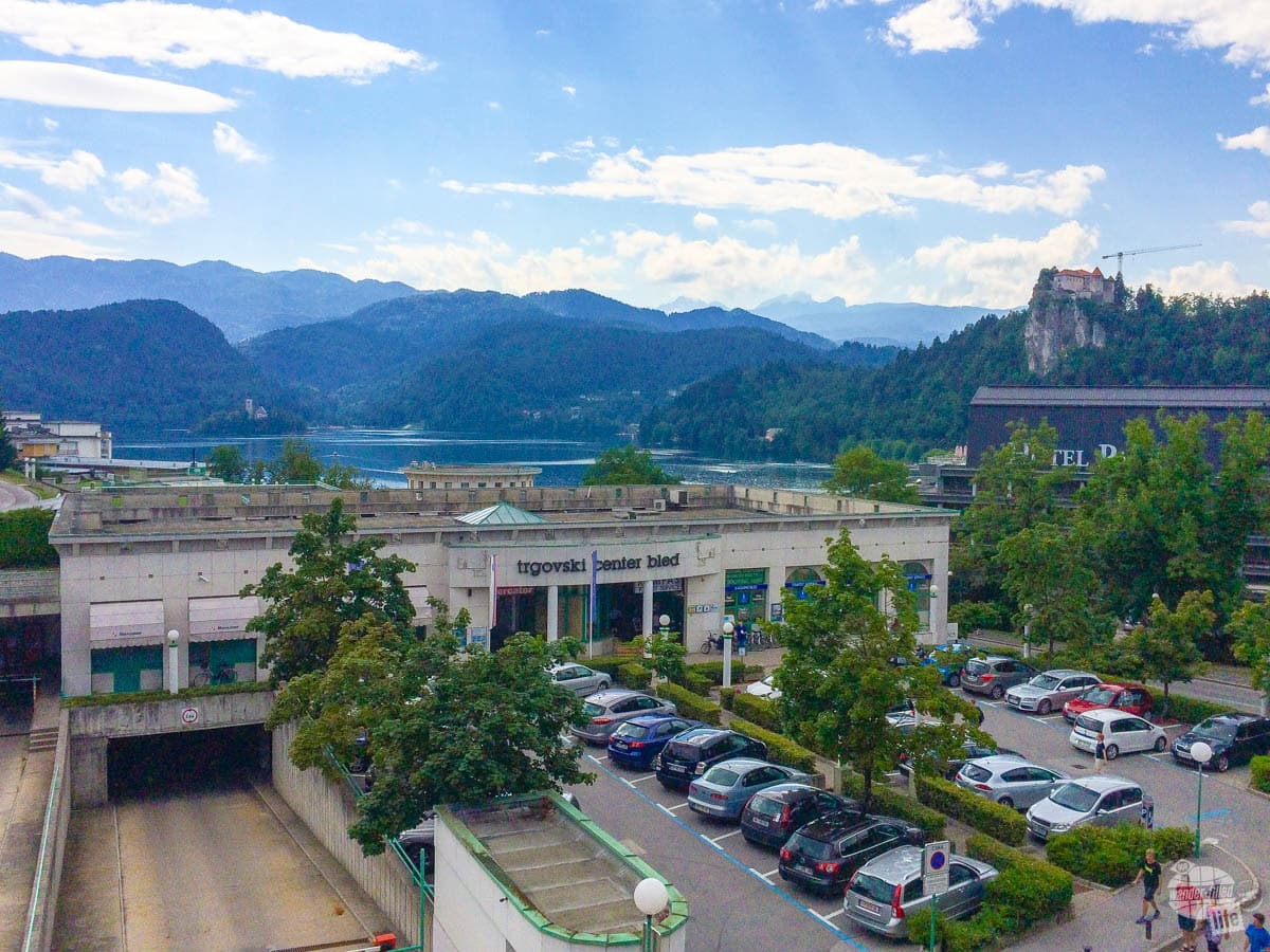 View from our hotel in Bled