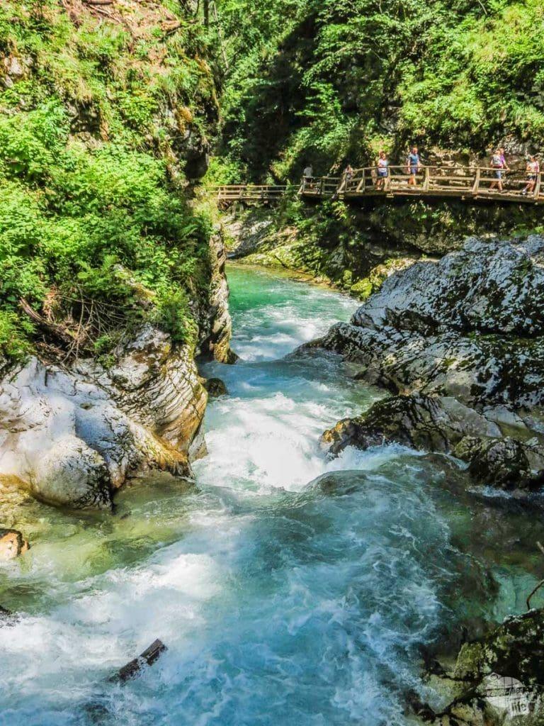 Walking the boardwalk of Vingtar Gorge