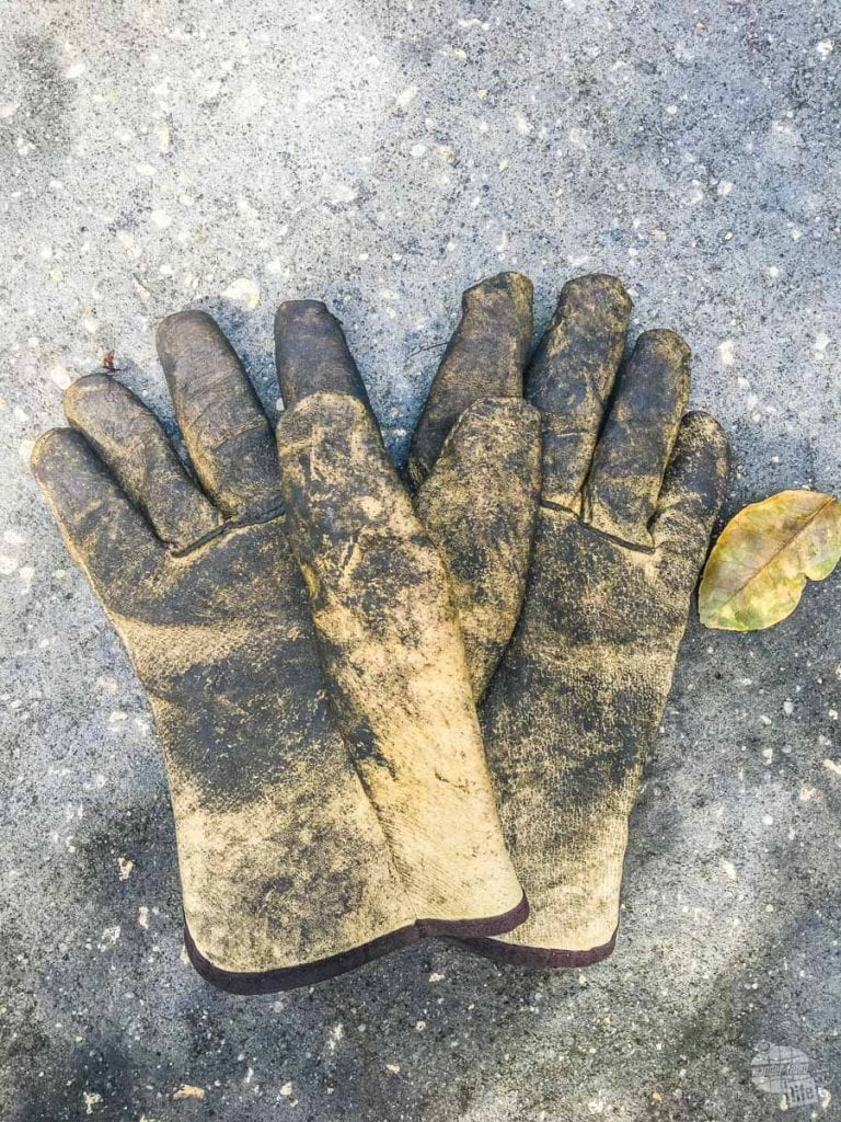 Leather work gloves will save your hands from grease and cuts.