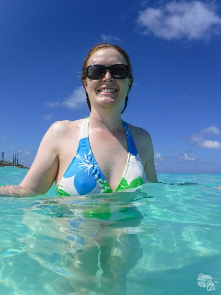 Enjoying the water at Great Stirrup Cay.