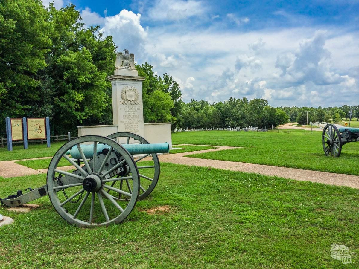 While there are a couple of trails at Brices Crossroads National Battlefield Site, there's not much more than what you can see here.