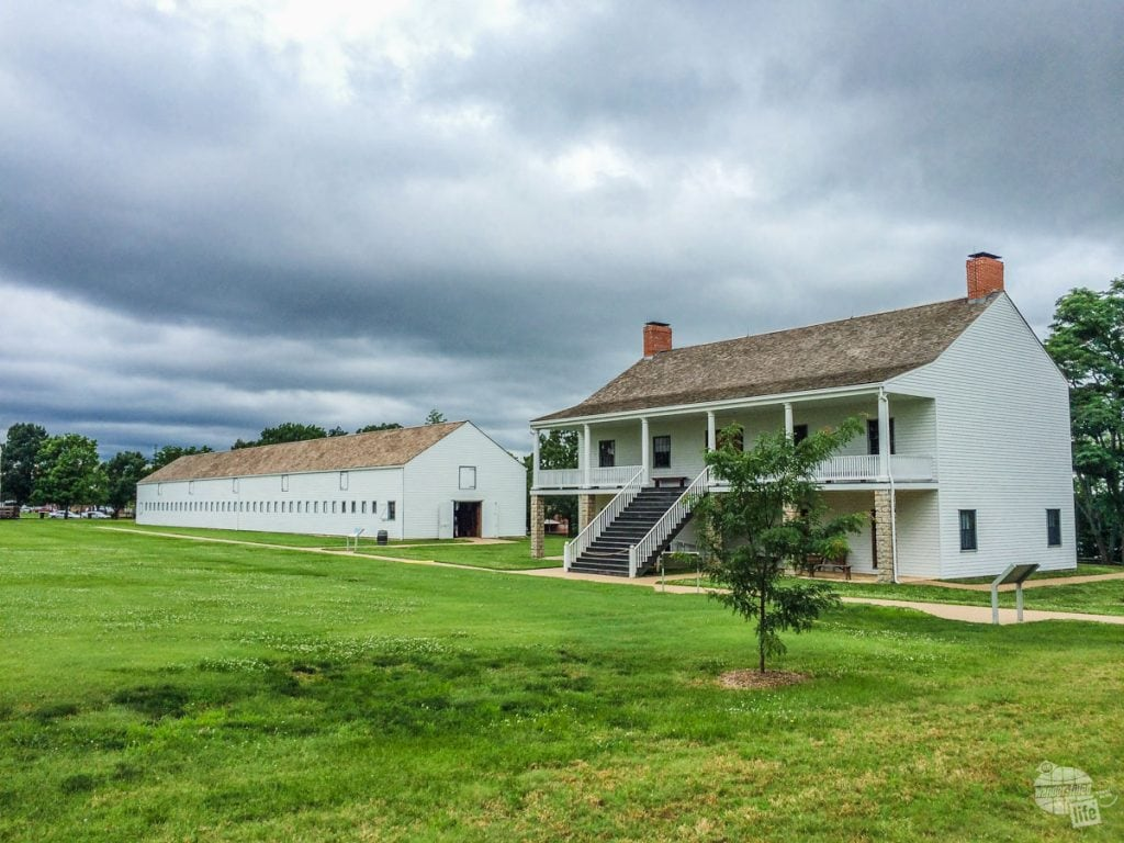 Barracks and stables for the cavalry units stationed at Fort Scott NHS