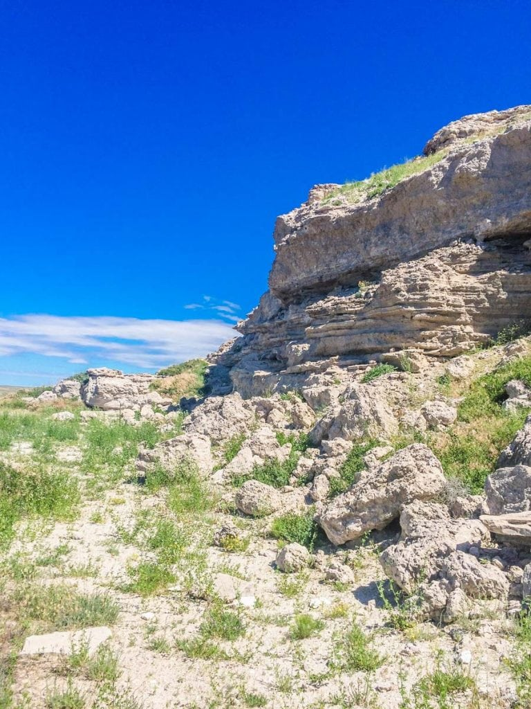 Fossil beds at Agate Fossil Beds NM