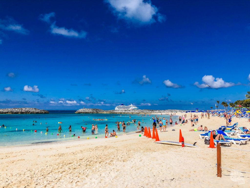The main swimming area on Great Stirrup Cay