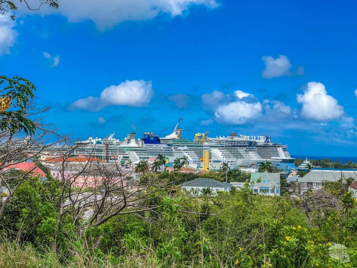 Cruise ship port in Nassau