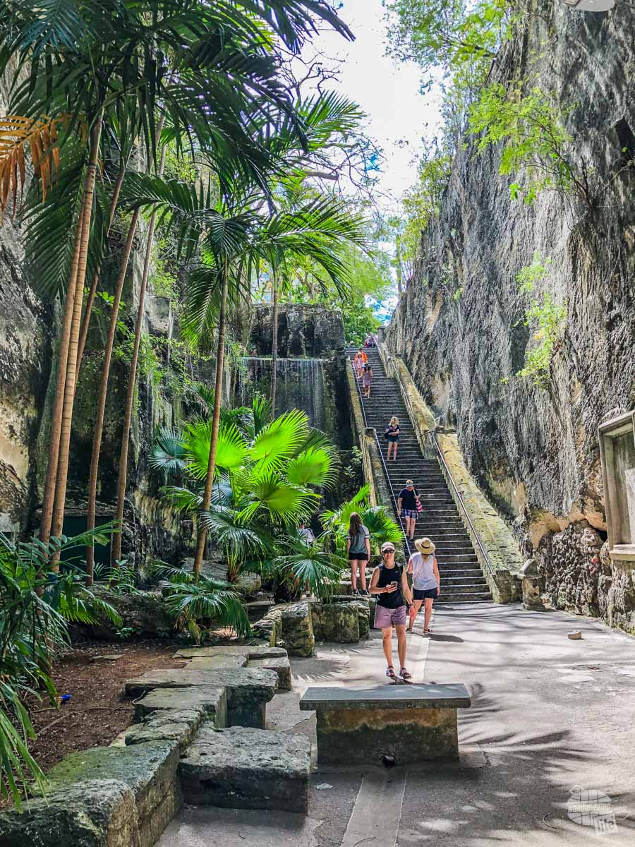 The Queen's Staircase in Nassau