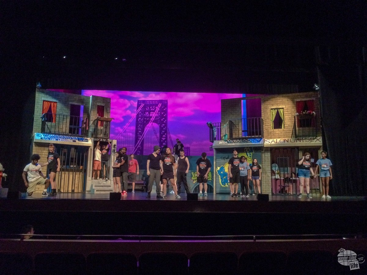 """The set of """"In the Heights""""... We helped build the set for the Georgia Thespians All-State Show."""