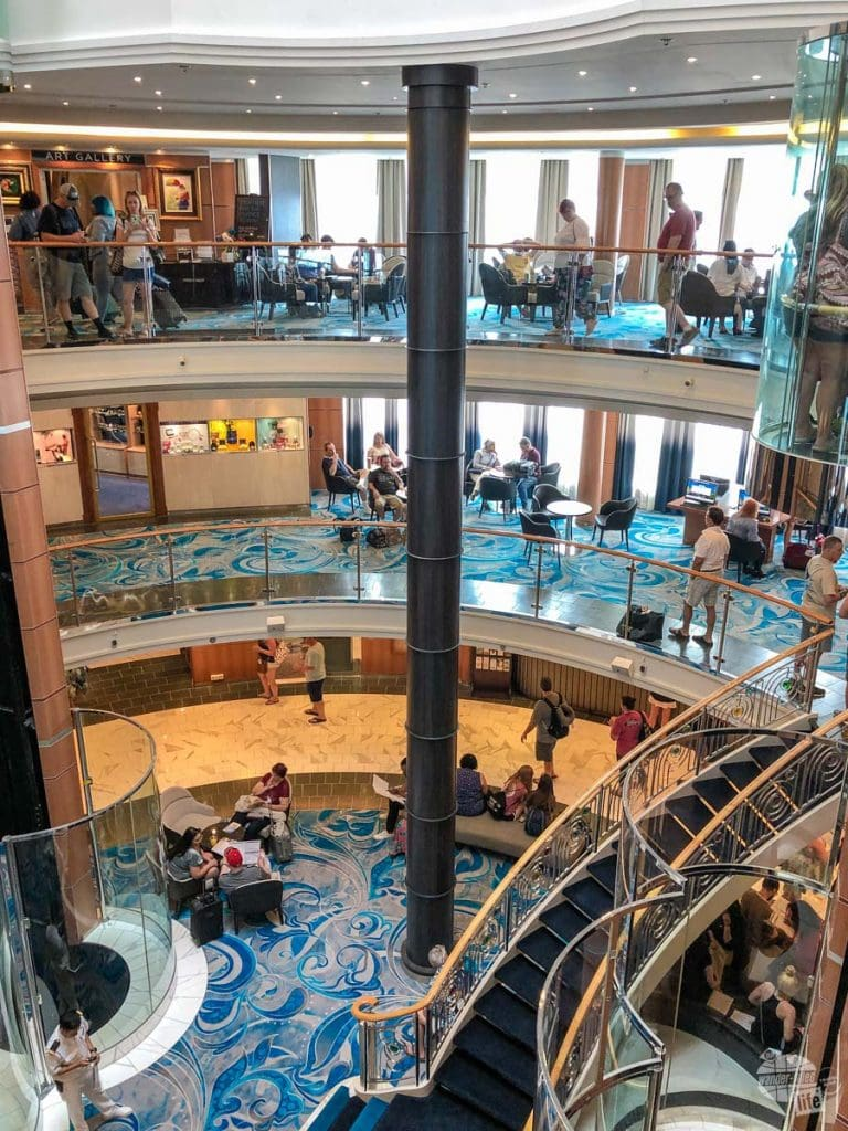 The Atrium serves as the hub of the ship with a bar, internet cafe and guest services, among other things, all located right there.