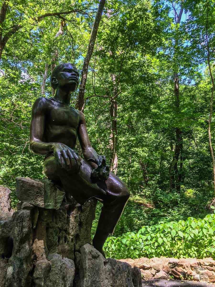 The Boy Carver statue