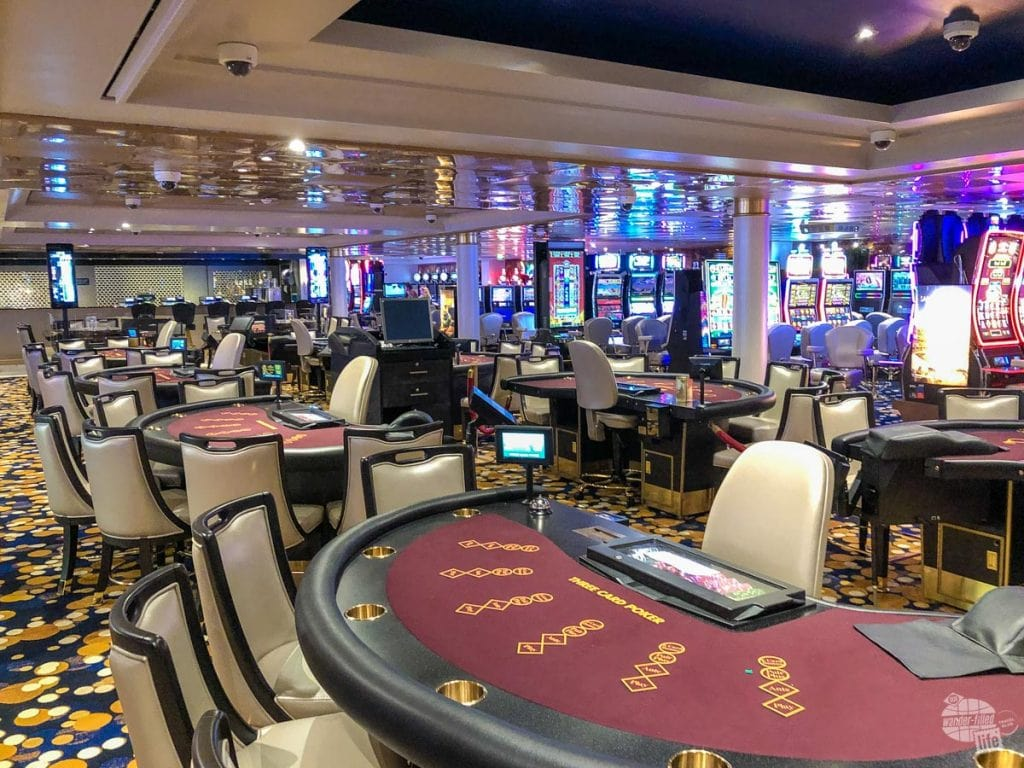 The casino aboard the Norwegian Sky was generally large enough, but we did find a wait for a $10 blackjack table.