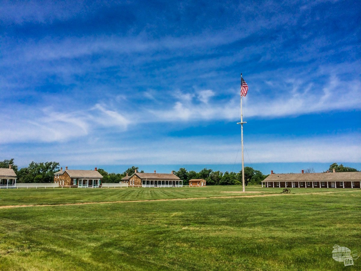 The parade ground of Fort Larned NHS