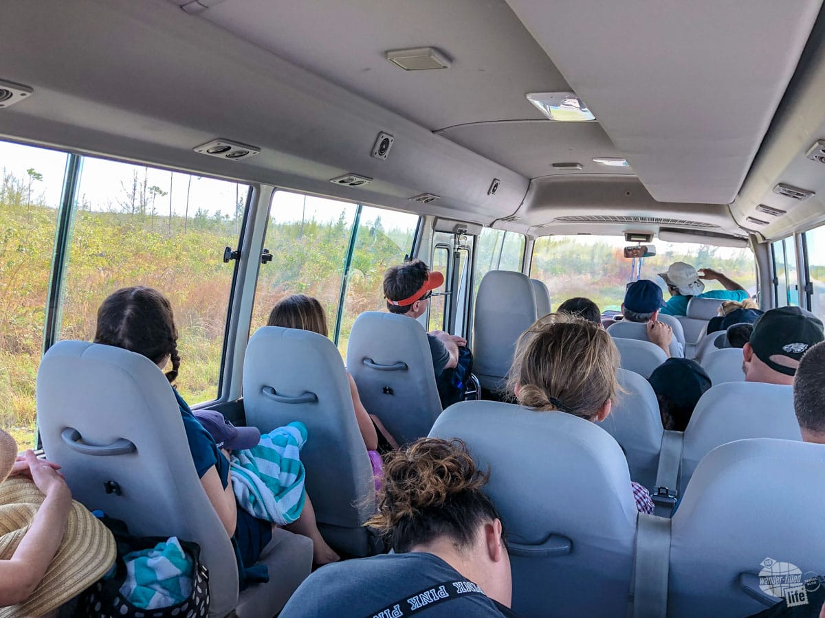 The tour bus the took us to Lucayan National Park