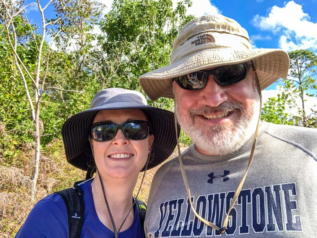 Selfie on the trail in Lucayan National Park.