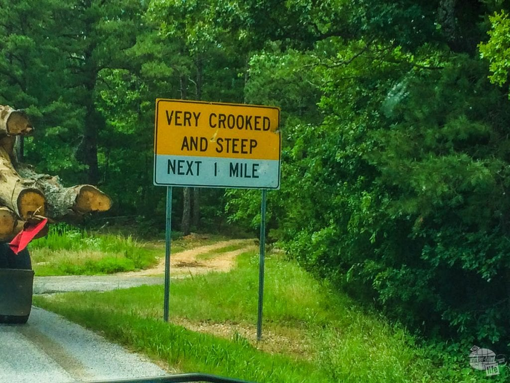"We loved the ""Very Crooked and Steep"" road signs."