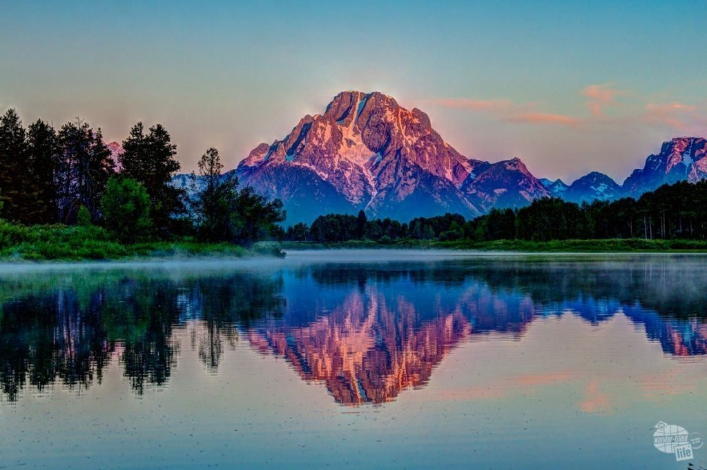 Mt. Moran at sunrise