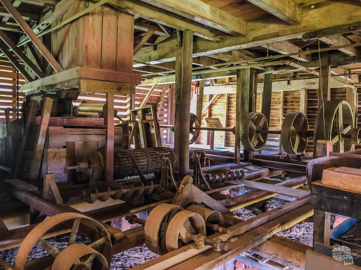 One of the last intact cotton gins of this style