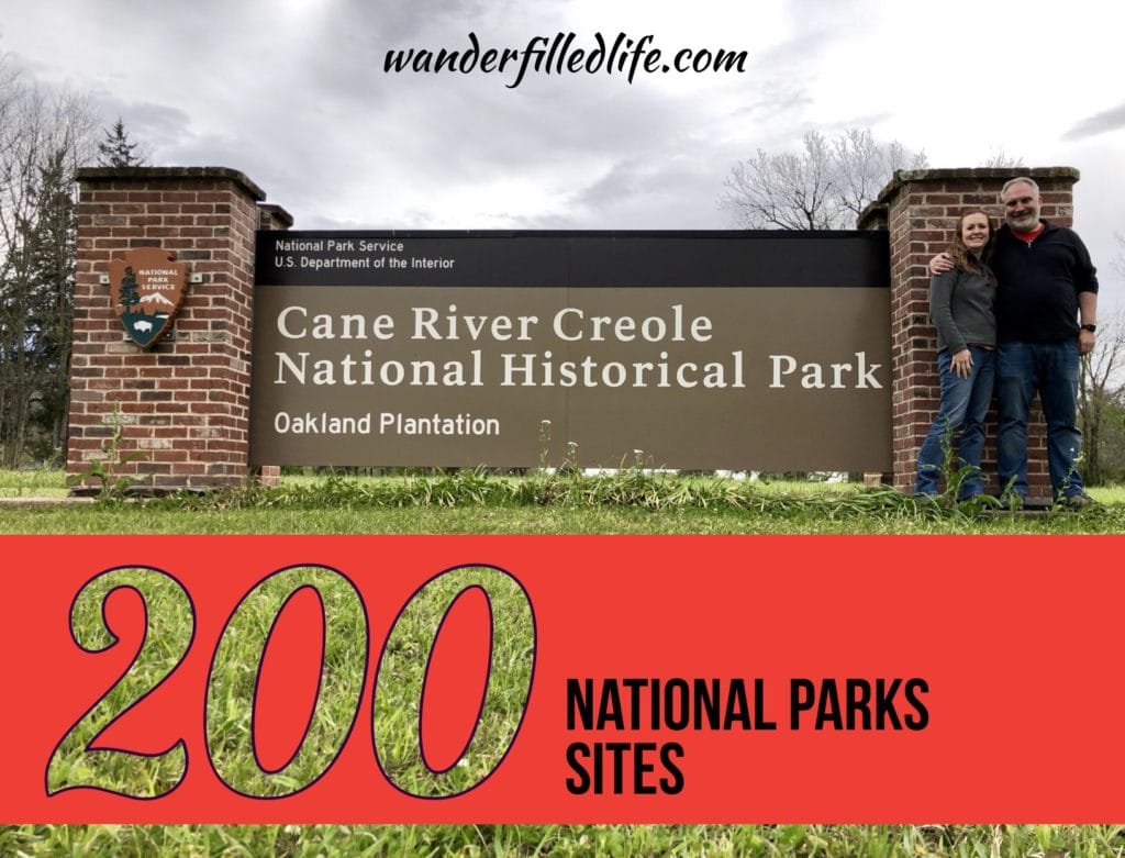 Our April 2019 visit to Cane Rive Creole NHP was the 200th site we've visited together.