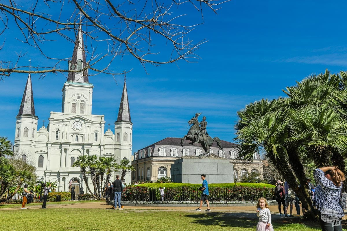 A stop in Jackson Square is a must for your three days in New Orleans.