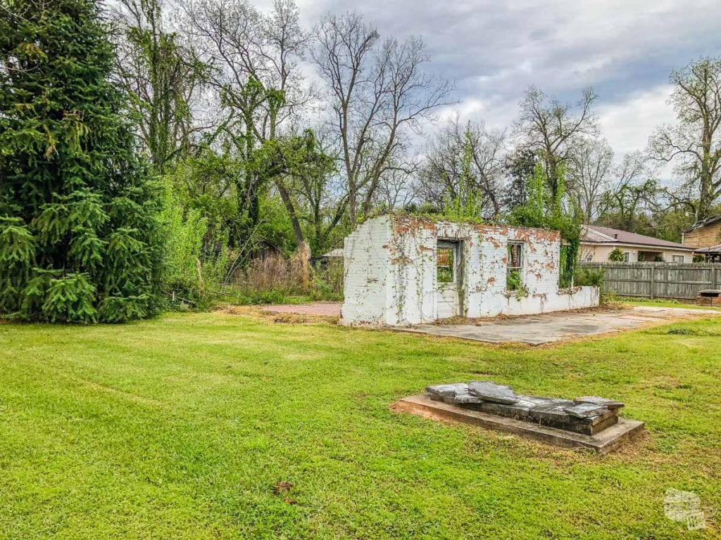 What remains of the Kate Chopin house in Cloutierville, a small town south of Natchitoches.