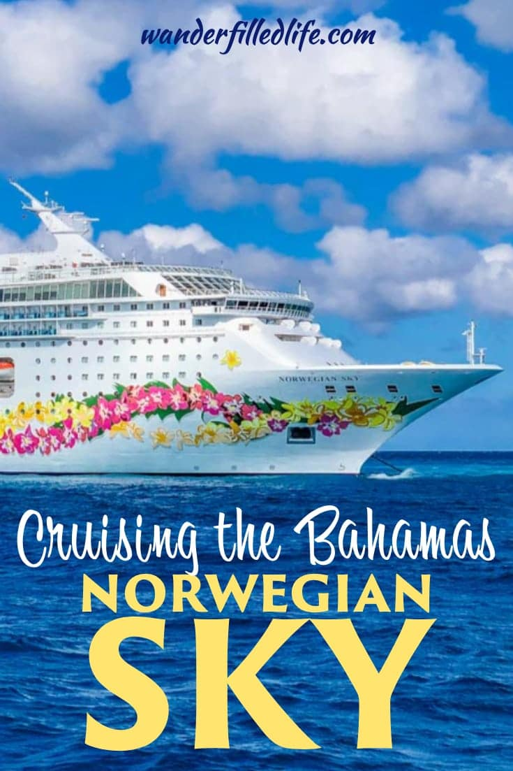 While easily the smallest cruise ship we have been on, the open bar and other amenities make Norwegian Sky a good choice for cruising the Bahamas. #Bahamas #Norwegian #NorwegianSky