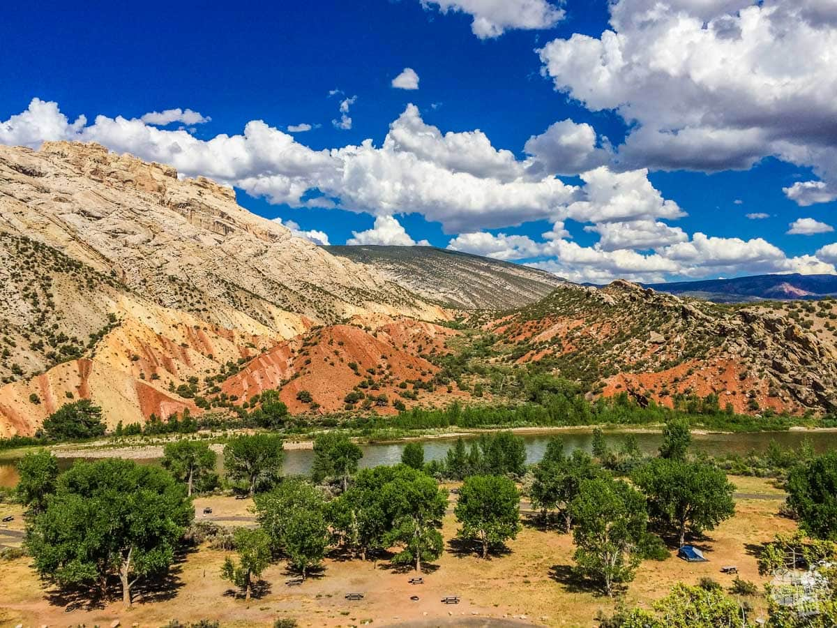 Overlooking the Green River Campground