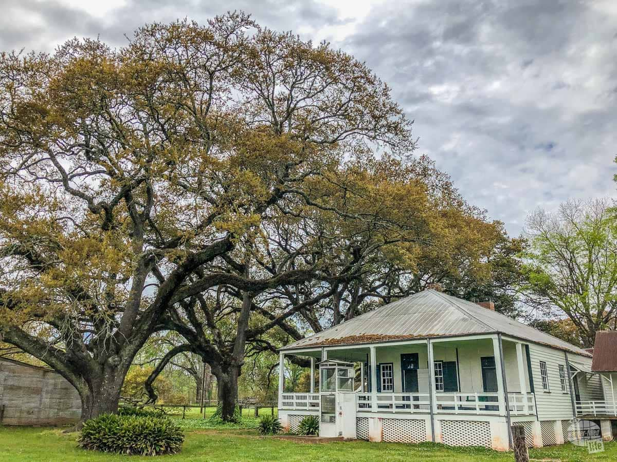 The overseer's house at the Magnolia Plantation at Cane River Creole National Historical Park, one of Louisiana's National Parks.