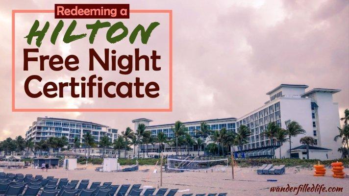 Boca Beach Club - Hilton Free Night Certificate