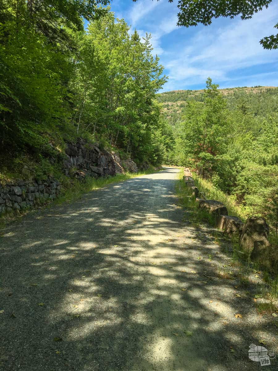 Don't be afraid to use the carriage roads in Acadia National Park for hiking. There are some great sites and the roads are not a difficult walk at all.