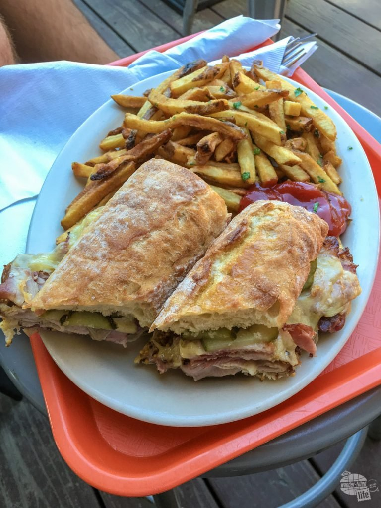 We split this awesome cuban sandwich at the Worthy Kitchen in Woodstock.