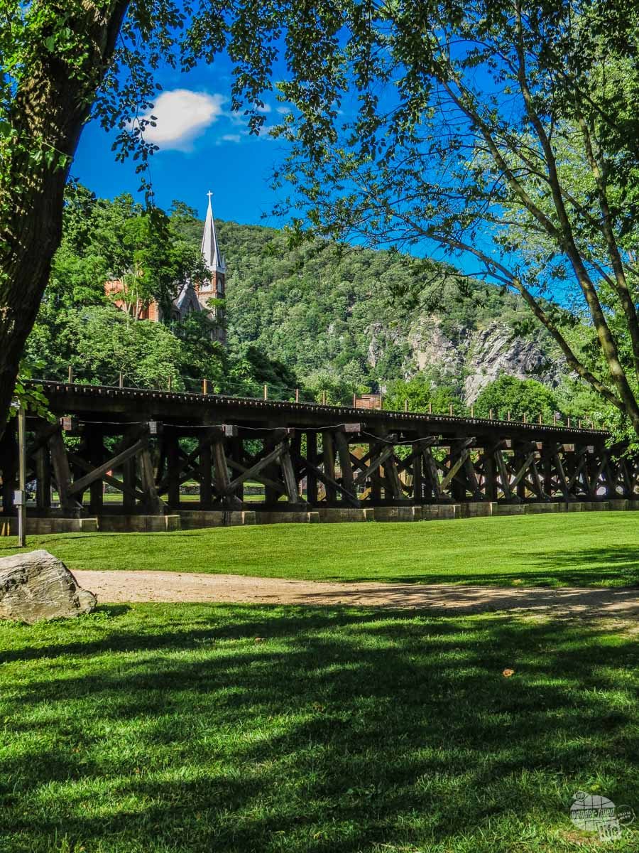 Harpers Ferry was an armory and was the site of the John Brown Raid.