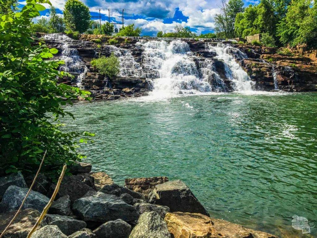 LaChute Falls in Ticonderoga