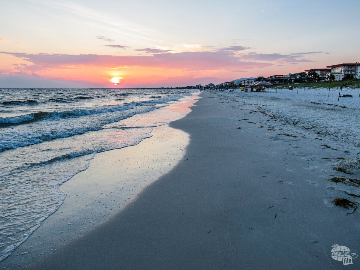 Mexico Beach at sunset