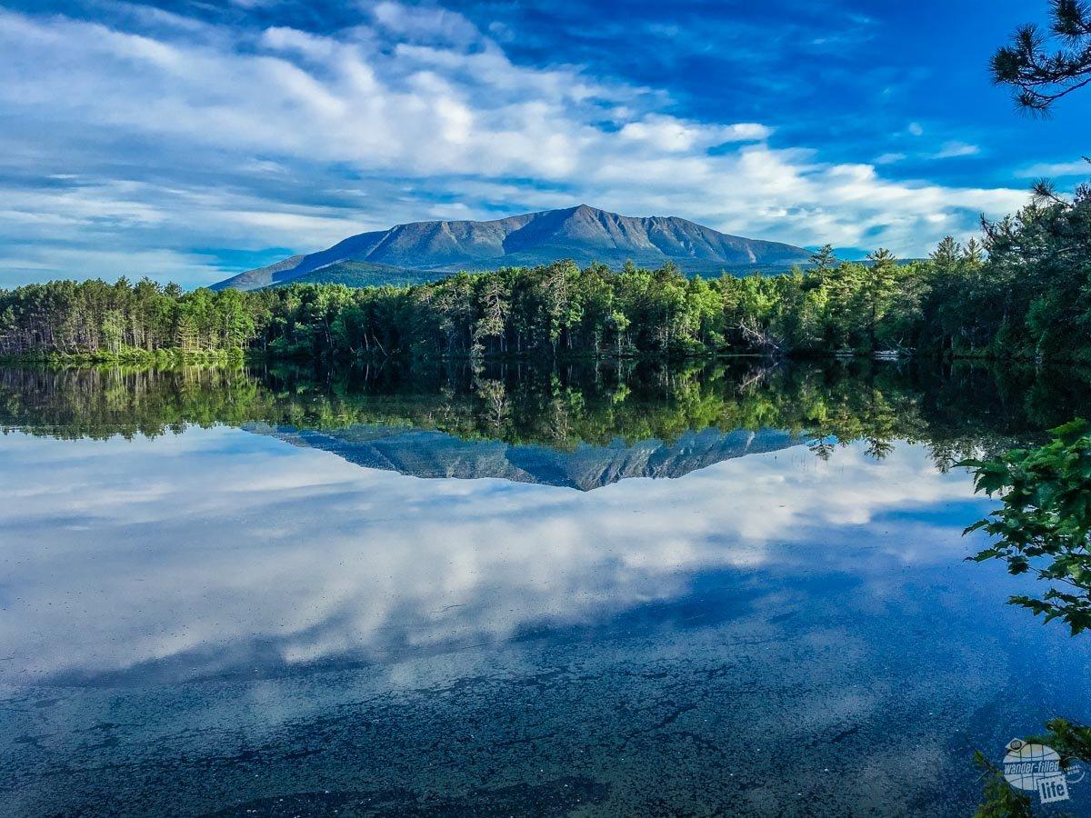 Mount Katahdin in Baxter State Park, Maine