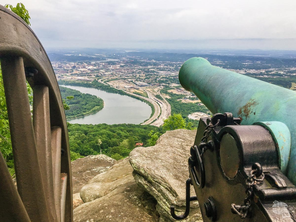 The view from Point Park, part of the Chickamauga and Chattanooga National Military Park