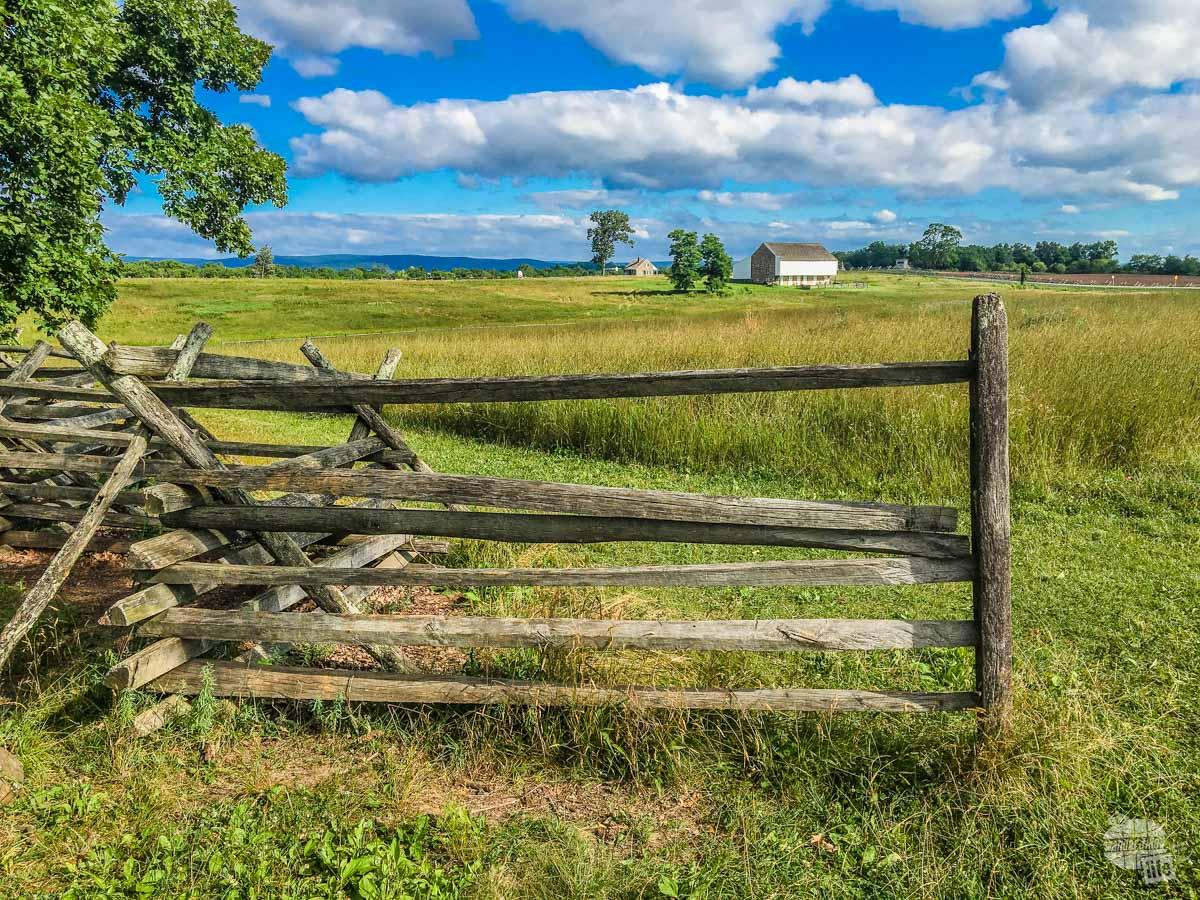 Eisenhower's home overlooked the battlefield at Gettysburg.